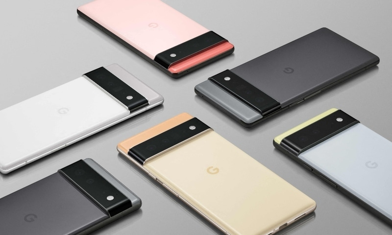 The new Google Google smartphone, Pixel 6, is displayed in this photo recieved from Google on July 30. — AFP