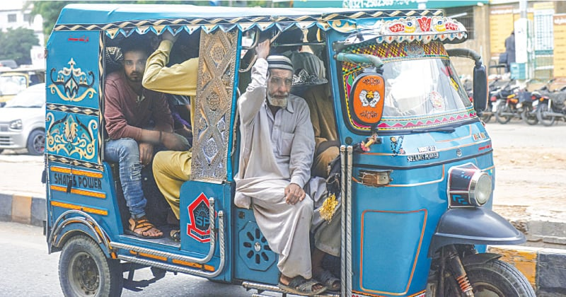 While the government has stopped buses from plying on the roads, this has put extra pressure on Qingqi rickshaws, resulting in violation of social distancing rules.—Fahim Siddiqi/White Star