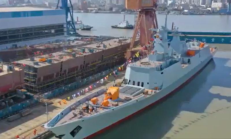 Type-054 Class Frigate ship. — Photo courtesy Pakistan Navy Twitter