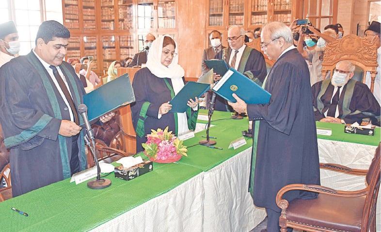 The permanent judges of the SHC are being sworn in by the chief justice on Wednesday.—Online