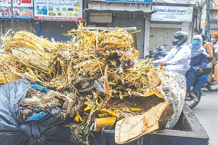 A swarm of flies feasts on loads of garbage in the Saddar area.—Fahim Siddiqi/White Star