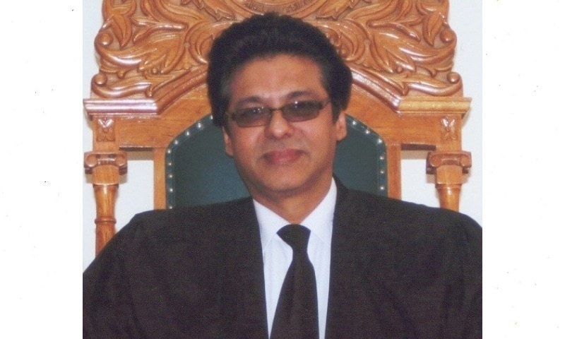 This photo shows  Justice Mohammad Ali Mazhar. — Photo courtesy Sindh High Court website