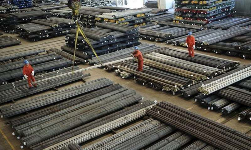 The value of steel bars and other long profile is fixed at Rs140,000 per tonne. — Reuters/File
