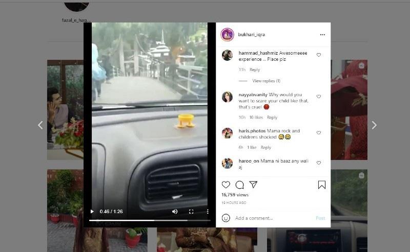 لوگوں نے ان پر بچوں کو خطرے میں ڈالنے کا الزام لگایا—اسکرین شاٹ
