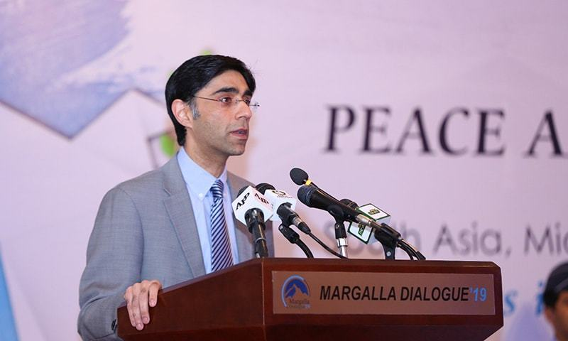 National Security Adviser Dr Moeed Yusuf says Pakistan will support a political solution to the Afghan conflict. — Moeed Yousuf Twitter/File