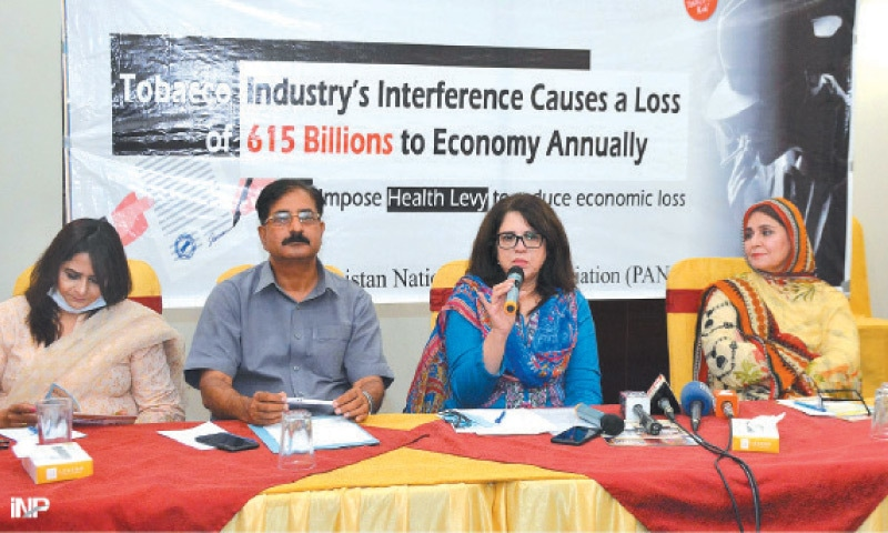 Deputy Director, Ministry of National Health Services, Dr Samra Mazhar speaks at the seminar on Friday. — INP