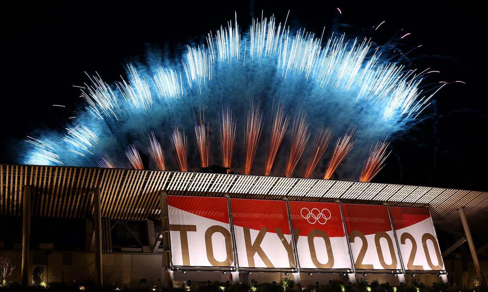 ٹوکیو اولمپکس مقابلے 16 روز جاری رہنے کے بعد اختتام پذیر ہوگئے—فوٹو:رائٹرز