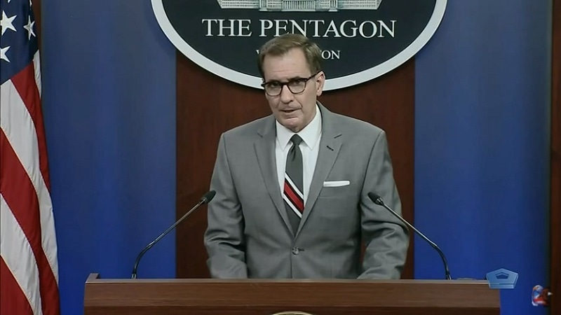 """""""We all have a shared sense of importance of closing down those [terrorist] safe havens along Pak-Afghan border and not allowing them to be used by the Taliban or other terrorist networks to sow discord,"""" says John F. Kirby. — Photo courtesy: US Department of Defence website"""