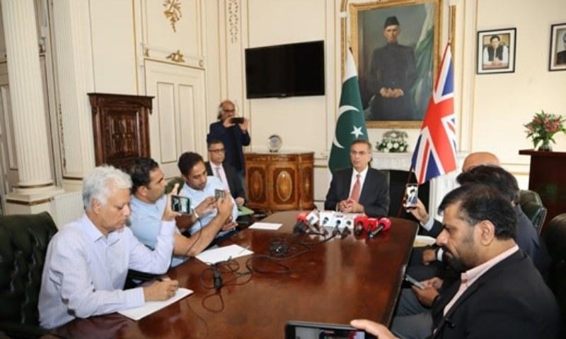 پاکستانی ہائی کمشنر نے بتایا کہ وہ برطانوی حکام کے ساتھ مسلسل رابطے میں ہیں — تصویر: ہائی کمیشن ویب سائٹ