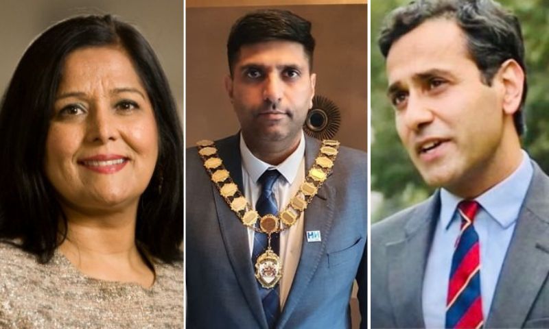 From left to right: Bolton South East MP Yasmin Qureshi, Mayor of Burnley Lord Wajid Khan and Gillingham MP Rehman Chishti. — Photo courtesy Twitter
