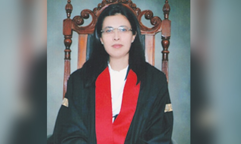 A file photo of Justice Ayesha A. Malik, who is fourth on the seniority list of the Lahore High Court. — Dawn/File