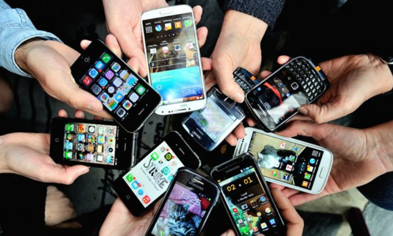 A representative image of mobile phones. — AFP/File