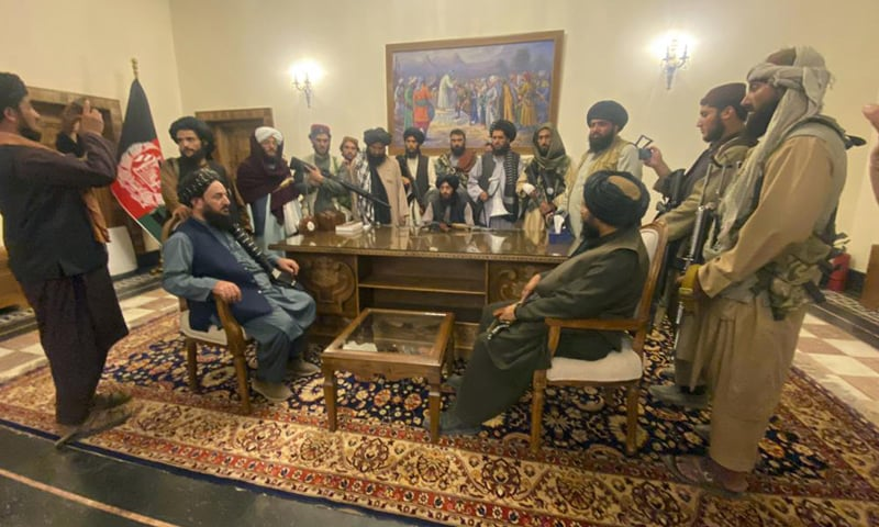 Taliban fighters take control of Afghan presidential palace after the Afghan President Ashraf Ghani fled the country, in Kabul, Afghanistan. — AP