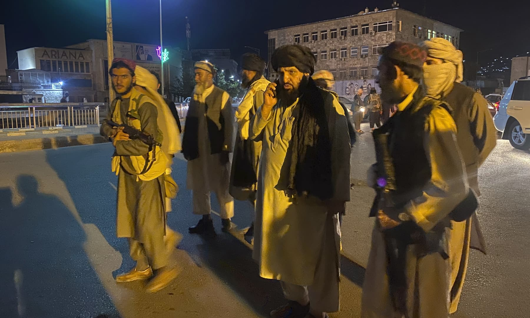 Taliban fighters take control of the Afghan presidential palace after Afghan President Ashraf Ghani fled the country in Kabul, Afghanistan on August 15, 2021. — AP