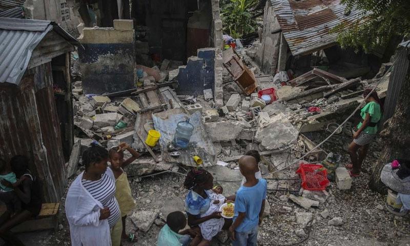 ہیٹی میں زلزلے سے اموات کی تعداد ایک ہزار 297 ہوگئی