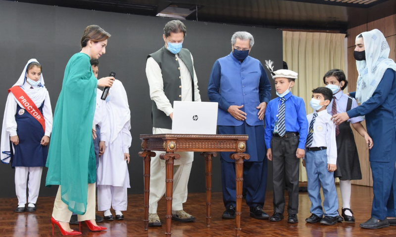 Prime Minister Imran Khan launches the Single National Curriculum in Islamabad on Aug 16. — PID