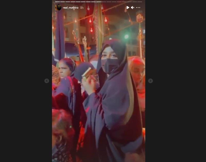 اداکارہ نے مجالس میں شرکت کی ویڈیوز بھی اسٹوری میں شیئر کیں—اسکرین شاٹ