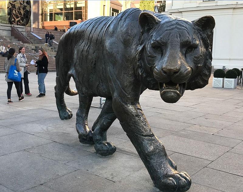 مرکزی ریلوے اسٹیشن کے پاس مقدس شیر