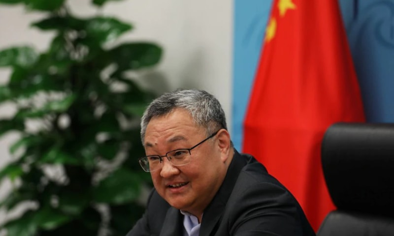 Fu Cong, the director general of the arms control department of the Chinese foreign ministry, speaks at a news conference on Covid-19 origin-tracking related issues, in Beijing, China on August 25. — Reuters