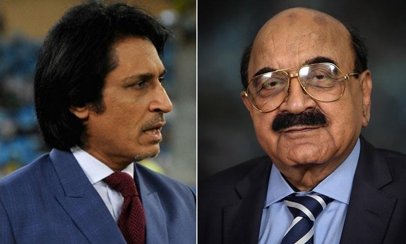 A combination photo of Ramiz Raja (L) and Asad Ali Khan (R). — AFP/ PCB website