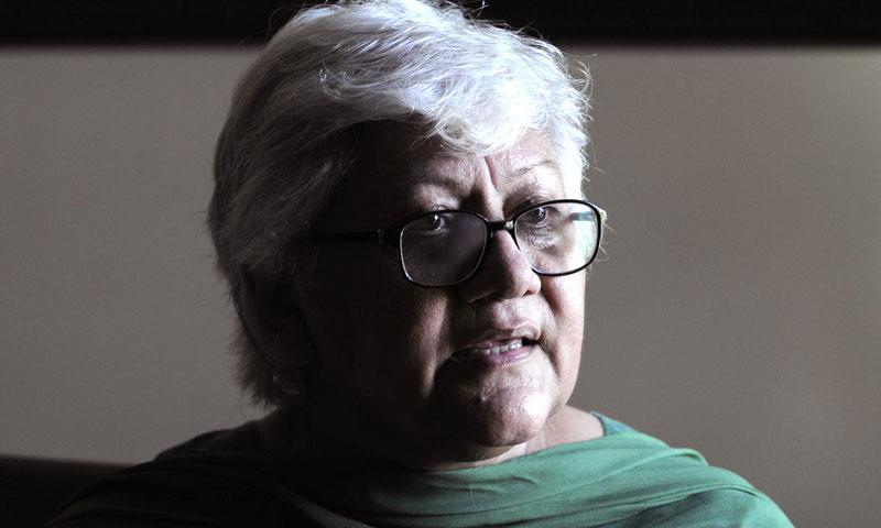 Scholar, educationist, feminist and human rights activist Rubina Saigol is seen in this file photo. — Photo by Arif Ali