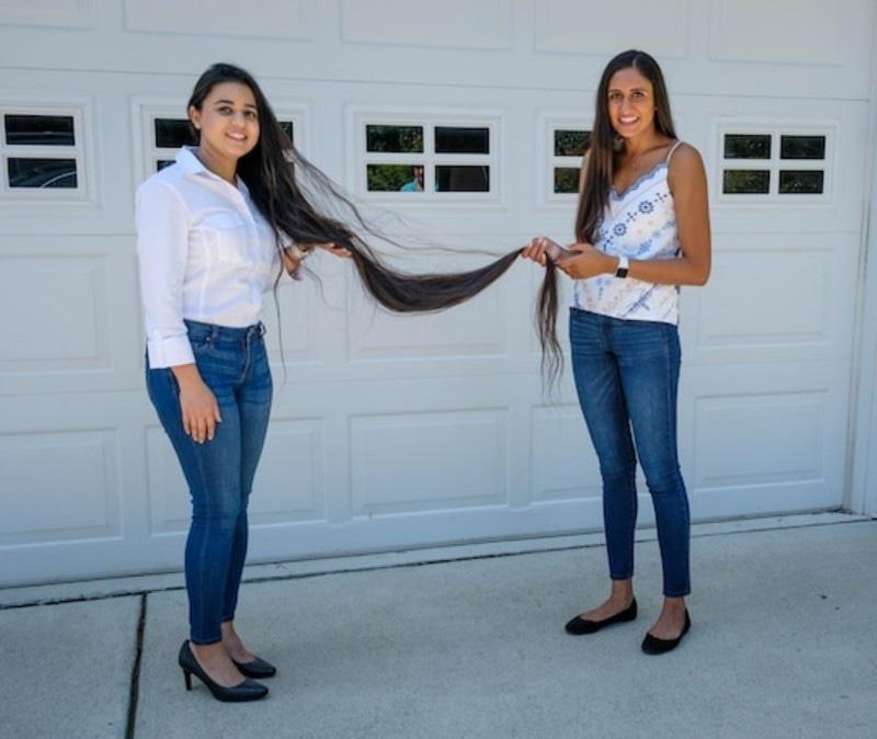 پاکستانی نژاد لڑکی سے قبل اتنے لمبے بال کسی نے عطیہ نہیں کیے—فوٹو: واشنٹگن پوسٹ