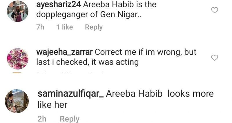 زیادہ تر افراد نے ماہرہ خان کی جگہ اریبہ حبیب کو کاسٹ کرنے کا مشورہ دیا—اسکرین شاٹ