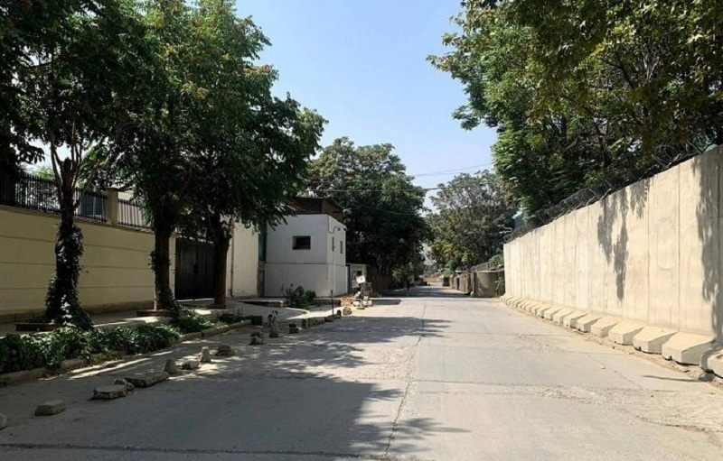 A deserted road in Kabul after Japan evacuated all personnel from its embassy in Kabul on August 17, 2021. — AFP