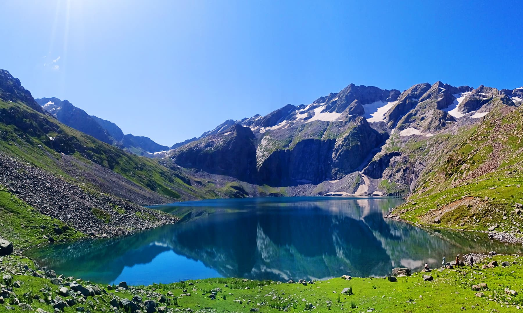 وادئ شندور کی دوسری جھیل 'بانڈہ جھیل'