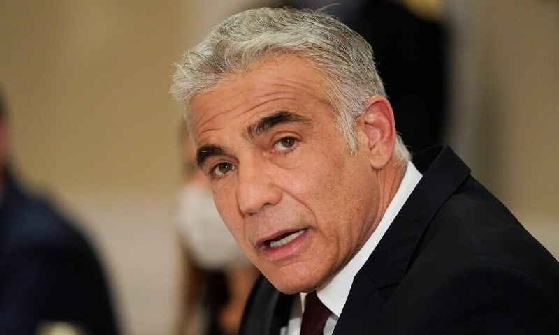 In this June 27, 2021 file photo, Israeli Foreign Minister Yair Lapid meets with Secretary of State Antony Blinken in Rome. — AP/File