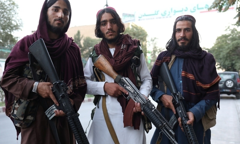 Taliban soldiers pose for a photo in Kabul on September 1. — Reuters