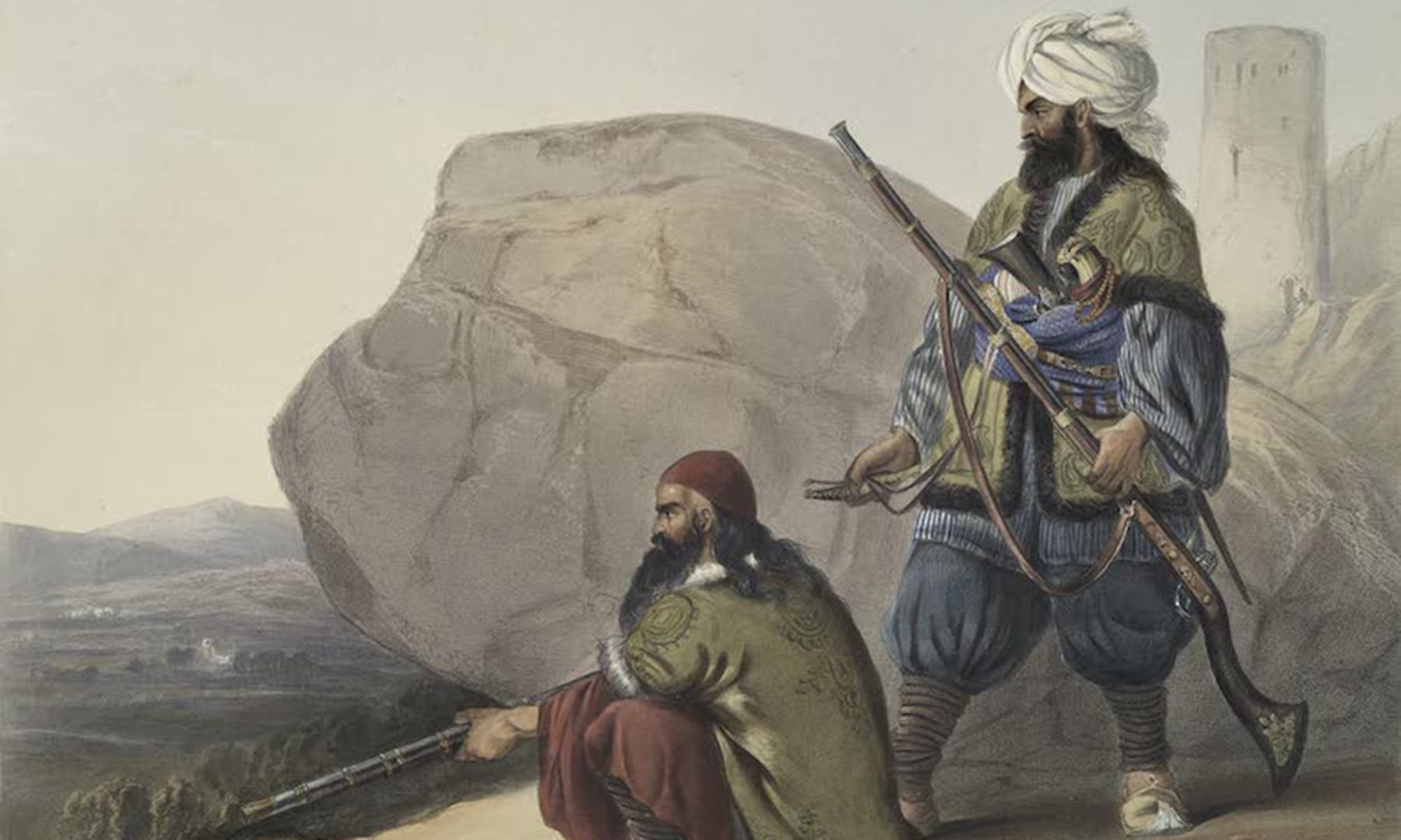 افغان لشکر کے سپاہی—برطانوی نیشنل آرمی میوزیم