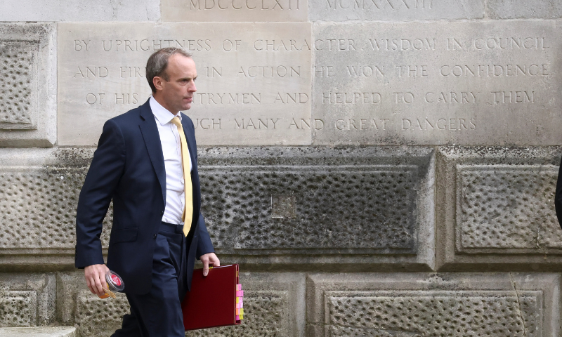 Britain's Foreign Secretary Dominic Raab will meet Foreign Minister Shah Mahmood Qureshi as well as other leaders during his visit. — Reuters/File