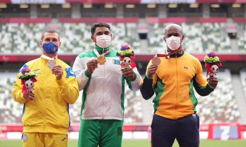 حیدر علی ٹوکیو پیرالمپکس میں طلائی تمغہ جیتنے والے پہلے پاکستانی ہیں— فوٹو: پیرالمپک گیمز ٹوئٹر