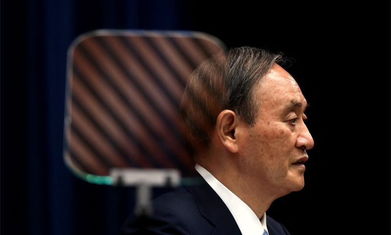 In this file photo taken on May 28, 2021, Japan's Prime Minister Yoshihide Suga speaks during a press conference at the prime minister's official residence in Tokyo. — AFP/File