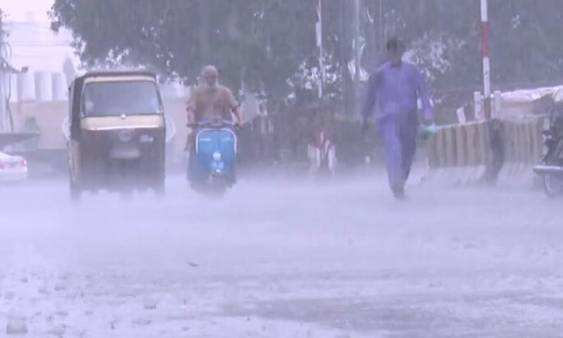 The image shows rainfall in Karachi on September 4. — DawnNewsTV