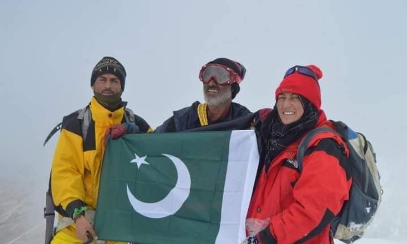 The three-member family expedition team. — Baltistan Tour Operators Association Facebook