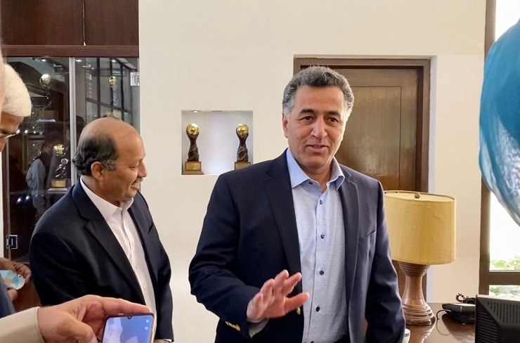 ISI Director General Lt Gen Faiz Hameed pictured during his visit to Kabul on Saturday. — Photo by Naveed Siddiqui