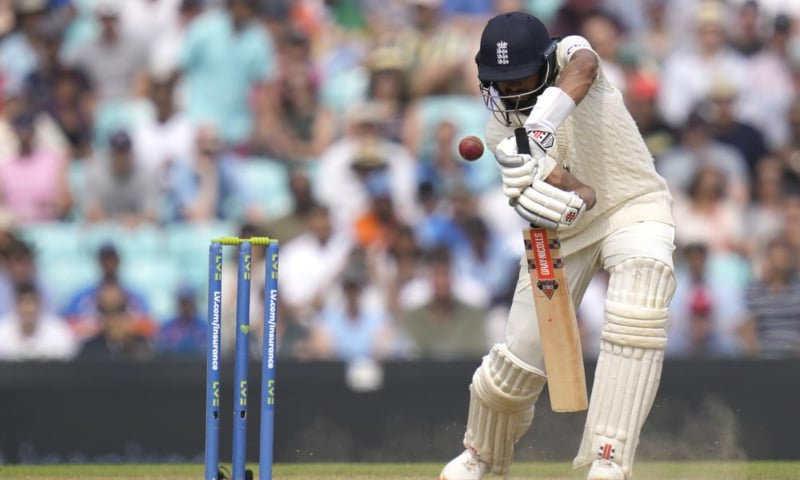 England's Haseeb Hameed plays a shot off the bowling of India's Mohammed Siraj on day five of the fourth Test match at The Oval cricket ground in London, UK on September 6. — AP