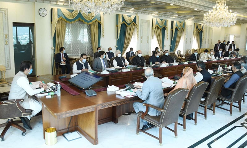 Prime Minister Imran Khan presides over the 48th meeting of the Council of Common Interests in Islamabad. — Photo courtesy PID website