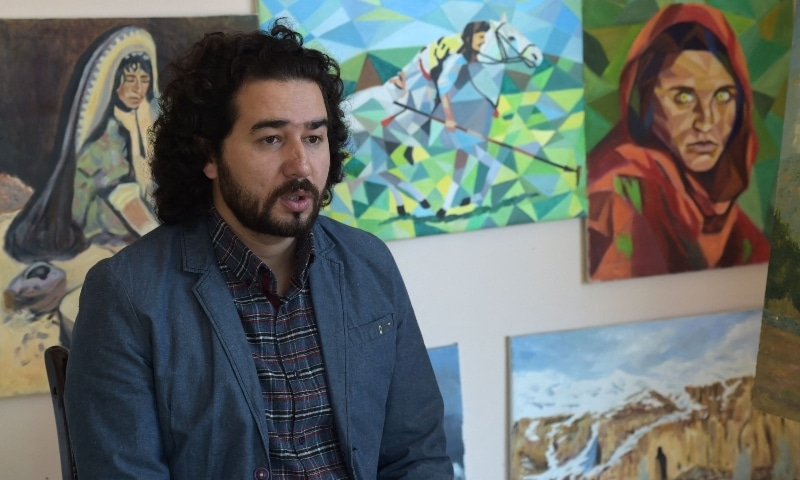 In this file photo taken on March 15, 2018, Artlords co-founder and president Omaid Sharifi speaks during an interview with AFP in Kabul. — AFP