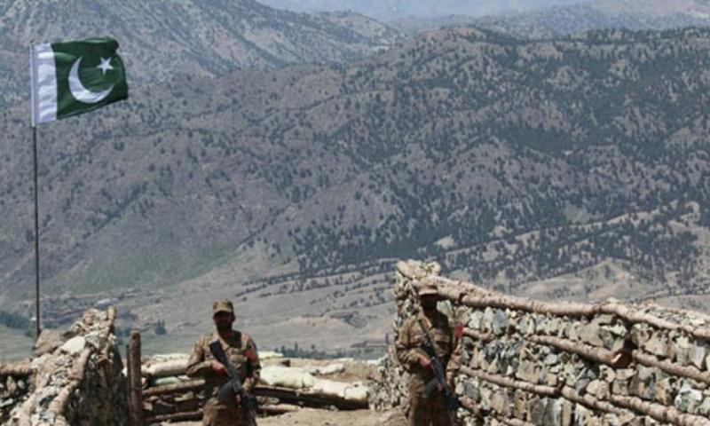 Soldiers keep vigil from a post on top of a mountain in the North Waziristan district. — AFP/File