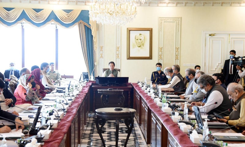 Prime Minister Imran Khan presides over a cabinet meeting in Islamabad on Wednesday. — Photo courtesy PID website