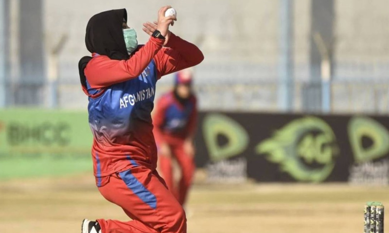 A player from Afghanistan's women cricket team is seen bowling in this file photo. — Reuters/File