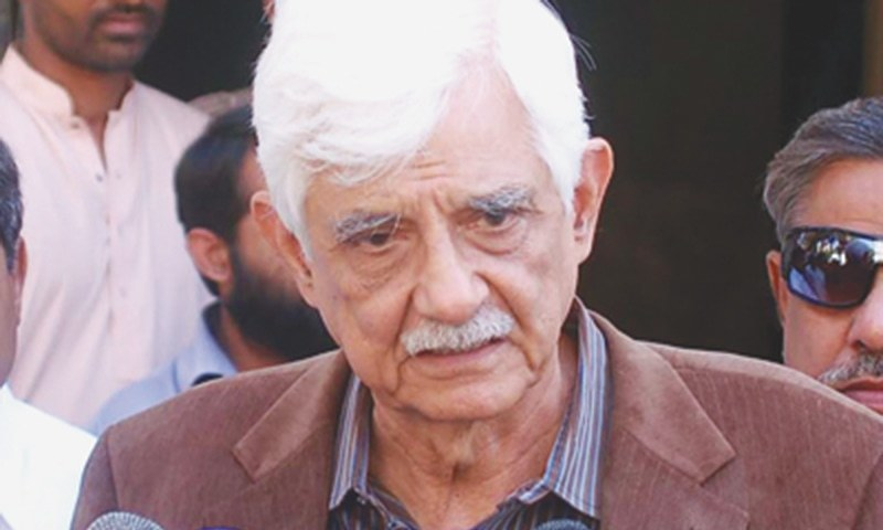 PPP Senator Taj Haider did not agree to the nomination for the chairperson suggested by the prime minister and the opposition leader. — Dawn/File