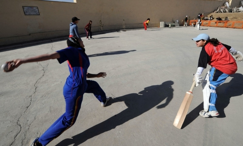 In this file photo, members of Afghanistan's first national women's cricket team take part in a training session in Kabul. — AFP
