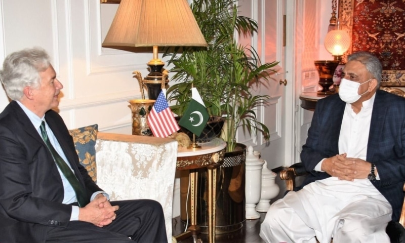 This photo shows CIA Director William Burns with Chief of Army Staff General Qamar Javed Bajwa.  — Photo provided by author