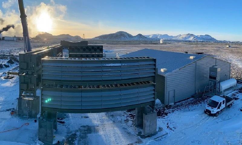 اس پلانٹ نے آئس لینڈ میں کام شروع کیا ہے —  فوٹو بشکریہ کلائم ورکس
