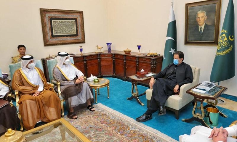 وزیراعظم سے قطری وزیر خارجہ کی ملاقات، افغانستان کی حالیہ پیش رفت پر تبادلہ خیال