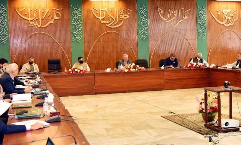 ای سی کا اجلاس وزیر خزانہ شوکت ترین کی سربراہی میں ہوا —تصویر: پی آئی ڈی